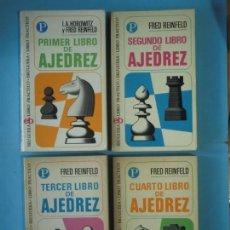 Coleccionismo deportivo: LIBRO DE AJEDREZ (LOS 4 LIBROS) - FRED REINFELD / I.A. HOROWITZ - BRUGUERA, 1972-1974. Lote 189723827