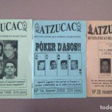 Coleccionismo deportivo: AJEDREZ REVISTA ATZUCAC 13 14 28 ESCACS. Lote 159894006