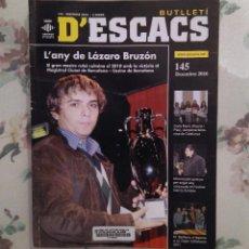 Coleccionismo deportivo: AJEDREZ BUTLLETI D'ESCACS N.145 DICIEMBRE 2010. Lote 159901194