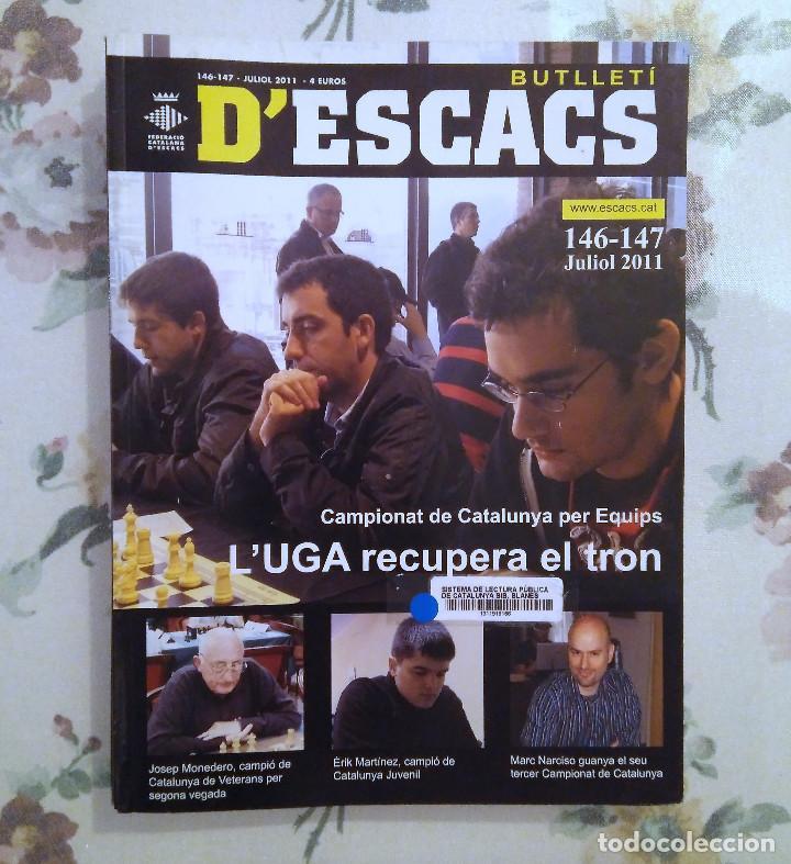 AJEDREZ BUTLLETI D'ESCACS N.146-147 JULIO 2011 (Coleccionismo Deportivo - Libros de Ajedrez)