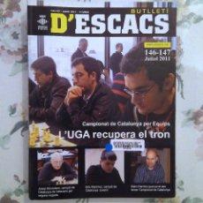Coleccionismo deportivo: AJEDREZ BUTLLETI D'ESCACS N.146-147 JULIO 2011. Lote 159901486