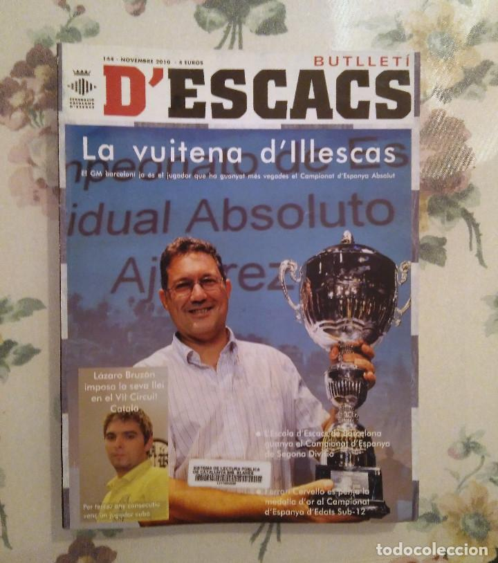 AJEDREZ BUTLLETI D'ESCACS N.144 NOVIEMBRE 2010 (Coleccionismo Deportivo - Libros de Ajedrez)