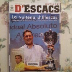 Coleccionismo deportivo: AJEDREZ BUTLLETI D'ESCACS N.144 NOVIEMBRE 2010. Lote 159901890