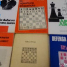Coleccionismo deportivo: AJEDREZ .CHESS. LOTE 6 LIBROS DE AJEDREZ.. Lote 160424394