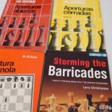 Coleccionismo deportivo: AJEDREZ .CHESS. PACK 4 LIBROS DE AJEDREZ.. Lote 160425398