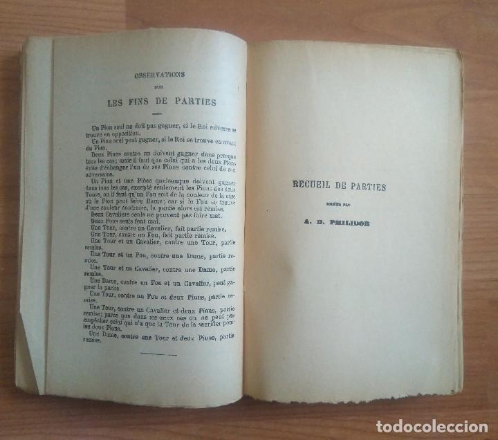 Coleccionismo deportivo: AJEDREZ - ANALYSE DU JEU DES ECHECS A.D. PHILIDOR PARIS - Foto 5 - 161724514