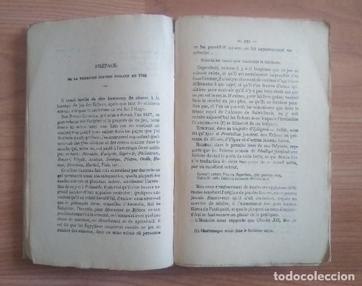 Coleccionismo deportivo: AJEDREZ - ANALYSE DU JEU DES ECHECS A.D. PHILIDOR PARIS - Foto 6 - 161724514