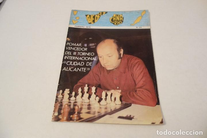 AJEDREZ CHESS. REVISTA AJEDREZ CANARIO FEBRERO 1976 (Coleccionismo Deportivo - Libros de Ajedrez)