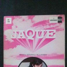 Coleccionismo deportivo: JAQUE-NOVIEMBRE 1973-REVISTA DE AJEDREZ. Lote 162189158