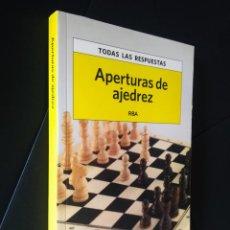 Coleccionismo deportivo: APERTURAS DE AJEDREZ | VV. AA. | RBA LIBROS, 2013. Lote 162522642