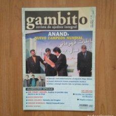 Coleccionismo deportivo: AJEDREZ REVISTA GAMBITO 50 2001 KASPAROV. Lote 172760077