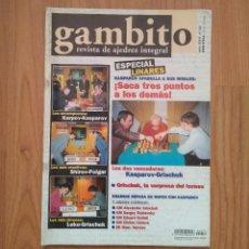 Coleccionismo deportivo: AJEDREZ REVISTA GAMBITO 52 2001 KASPAROV LINARES. Lote 163489686