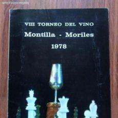 Coleccionismo deportivo: EXTRA JAQUE TORNEO MONTILLA MORILES 1978 MUY DIFICIL. Lote 166308390