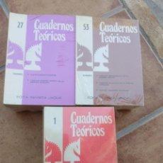 Coleccionismo deportivo: CUADERNOS TEORICOS REVISTA JAQUE COMPLETA 78 NUMEROS. Lote 166309138