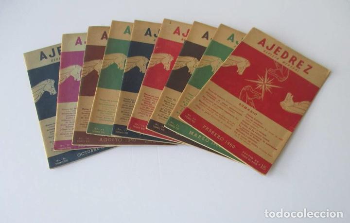 AJEDREZ REVISTA MENSUAL - 9 NUMEROS DEL AÑO 1960 (Coleccionismo Deportivo - Libros de Ajedrez)