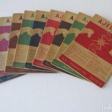 Coleccionismo deportivo: AJEDREZ REVISTA MENSUAL - 9 NUMEROS DEL AÑO 1960. Lote 166971368