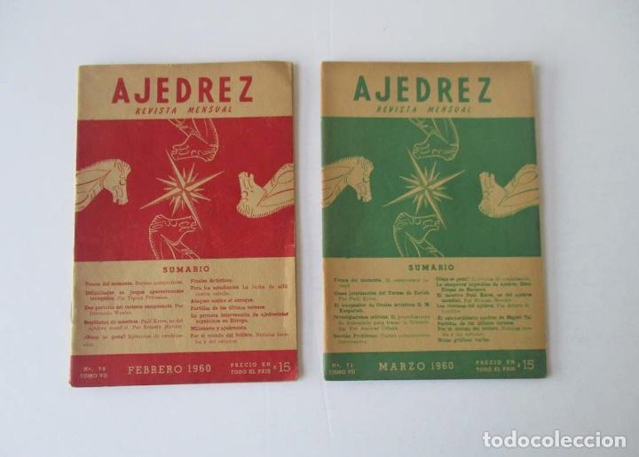 Coleccionismo deportivo: AJEDREZ REVISTA MENSUAL - 9 NUMEROS DEL AÑO 1960 - Foto 2 - 166971368