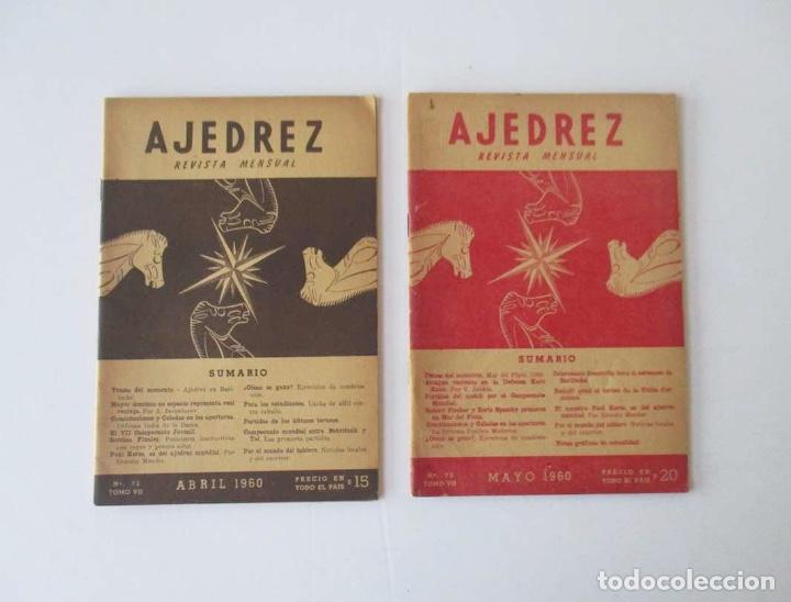 Coleccionismo deportivo: AJEDREZ REVISTA MENSUAL - 9 NUMEROS DEL AÑO 1960 - Foto 3 - 166971368
