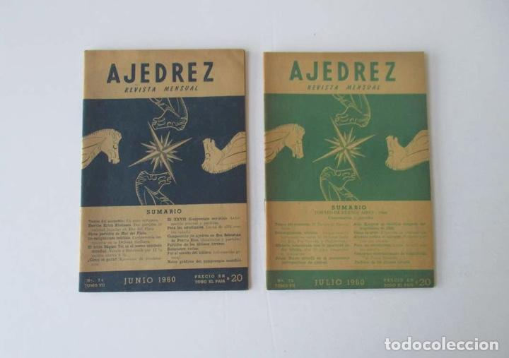 Coleccionismo deportivo: AJEDREZ REVISTA MENSUAL - 9 NUMEROS DEL AÑO 1960 - Foto 4 - 166971368