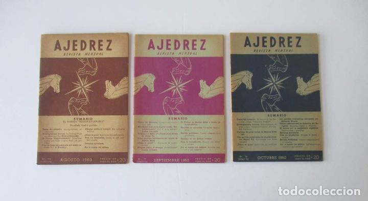 Coleccionismo deportivo: AJEDREZ REVISTA MENSUAL - 9 NUMEROS DEL AÑO 1960 - Foto 5 - 166971368