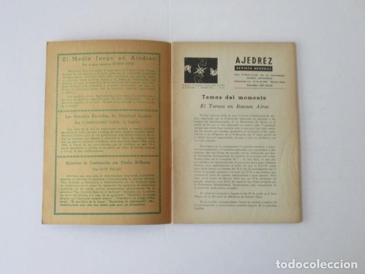 Coleccionismo deportivo: AJEDREZ REVISTA MENSUAL - 9 NUMEROS DEL AÑO 1960 - Foto 6 - 166971368
