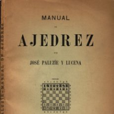 Coleccionismo deportivo: PALUZIE MANUAL DE AJEDREZ FINALES PARTE 4. Lote 167451312