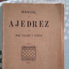 Coleccionismo deportivo: PALUZIE MANUAL DE AJEDREZ MISCELANEA PARTE 6. Lote 167454036