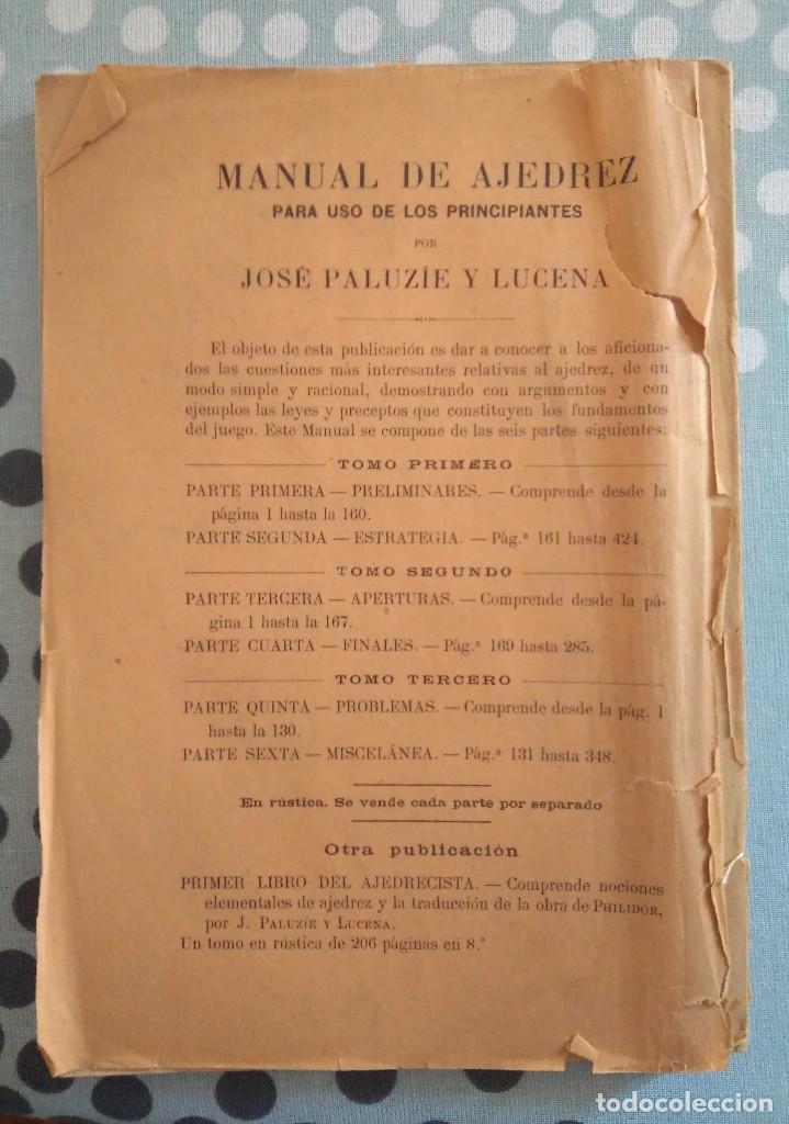 Coleccionismo deportivo: Paluzie Manual de Ajedrez Miscelanea Parte 6 - Foto 4 - 167454036
