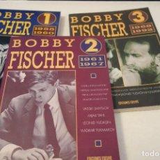 Coleccionismo deportivo: AJEDREZ.CHESS. BOBBY FISCHER LOS 3 TOMOS. EDICIONES ESEUVE.. Lote 182782755
