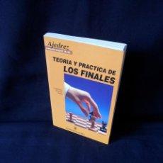 Coleccionismo deportivo: LORENZO PONCE SALA - TEORIA Y PRACTICA DE LOS FINALES - HISPANO EUROPEA 1999. Lote 169027048