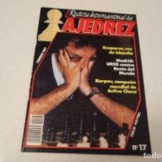 Coleccionismo deportivo: REVISTA INTERNACIONAL DE AJEDREZ Nº 17 . FEBRERO 1989. Lote 171462972