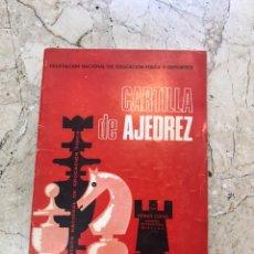 Coleccionismo deportivo: CARTILLA DE AJEDREZ ROMÁN TORAN. Lote 171578105