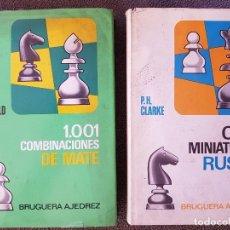 Coleccionismo deportivo: BRUGUERA AJEDREZ. CIEN MINIATURAS RUSAS/1001 COMBINACIONES DE MATE. Lote 172712669