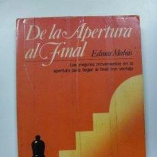Coleccionismo deportivo: DE LA APERTURA AL FINAL. EDMAR MEDNIS.. Lote 173065385