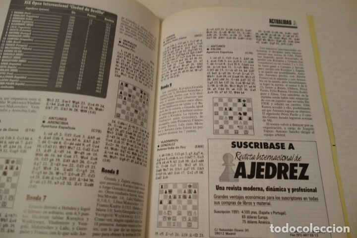 Coleccionismo deportivo: ESCACS. CHESS .AJEDREZ. REVISTA INTERNACIONAL DE AJEDREZ NÚM 42 MARZO DE 1991 - Foto 5 - 173428924