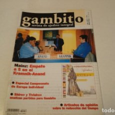 Coleccionismo deportivo: ESCACS. AJEDREZ.CHESS. REVISTA DE AJEDREZ GAMBITO Nº 56 AÑO 2001. Lote 173590660