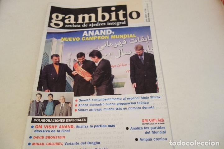 ESCACS. AJEDREZ.CHESS. REVISTA DE AJEDREZ GAMBITO Nº 50 AÑO 2001 (Coleccionismo Deportivo - Libros de Ajedrez)