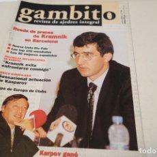 Coleccionismo deportivo: ESCACS. AJEDREZ.CHESS. REVISTA DE AJEDREZ GAMBITO Nº 59 AÑO 2001. Lote 173590814