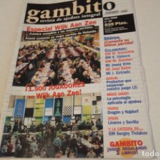 Coleccionismo deportivo: ESCACS. AJEDREZ.CHESS. REVISTA DE AJEDREZ GAMBITO Nº 39 AÑO 2000. Lote 173592009