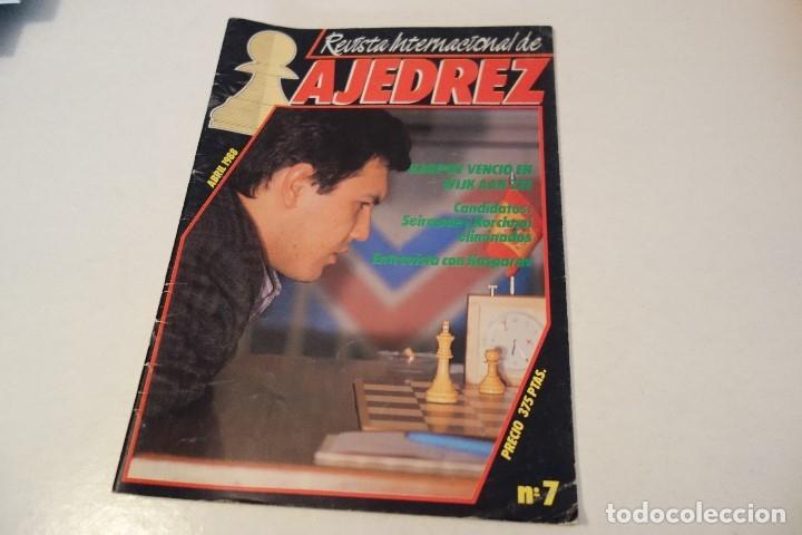ESCACS. AJEDREZ.CHESS. REVISTA INTERNACIONAL DE AJEDREZ Nº 7 ABRIL 1988 (Coleccionismo Deportivo - Libros de Ajedrez)