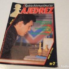 Coleccionismo deportivo: ESCACS. AJEDREZ.CHESS. REVISTA INTERNACIONAL DE AJEDREZ Nº 7 ABRIL 1988. Lote 173592257