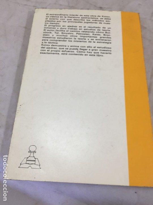 Coleccionismo deportivo: PIENSE COMO UN GRAN MAESTRO. ALEXANDER KOTOV 1979 - Foto 10 - 173983479