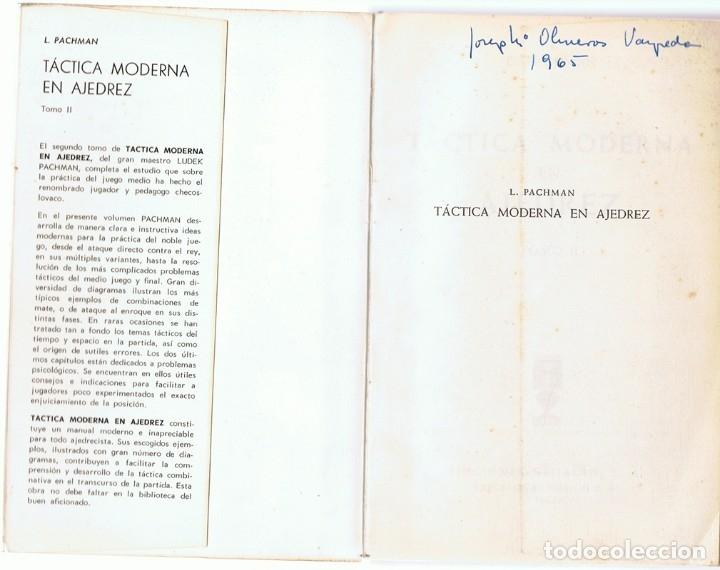 Coleccionismo deportivo: TÁCTICA MODERNA EN AJEDREZ TOMO II LUDEK PACHMAN - Foto 2 - 175130624