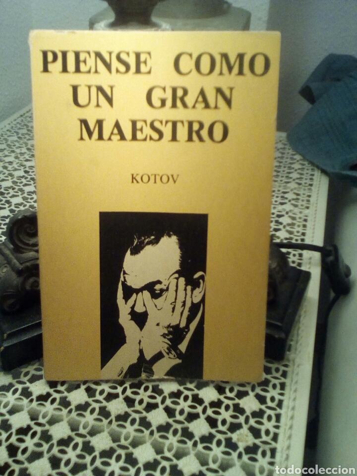 PIENSE COMO UN GRAN MAESTRO - KOTOV - EDITORIAL RICARDO AGUILERA, 1979. (Coleccionismo Deportivo - Libros de Ajedrez)