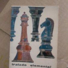 Coleccionismo deportivo: RICARDO AGUILERA. TRATADO ELEMENTAL DE AJEDREZ. Lote 176007572