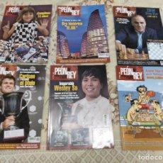 Colecionismo desportivo: 6 REVISTAS DE AJEDREZ PEON DE REY. Lote 176075539