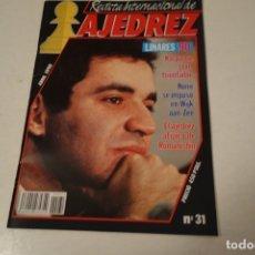 Coleccionismo deportivo: ESCACS. CHESS. AJEDREZ. REVISTA INTERNACIONAL DE AJEDREZ NÚM 31 ABRIL 1990.. Lote 177522570