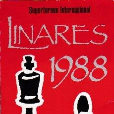 Coleccionismo deportivo: TORNEO INTERNACIONAL CIUDAD DE LINARES 1988 * AJEDREZ *. Lote 177760679