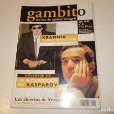 Coleccionismo deportivo: AJEDREZ.CHESS. REVISTA GAMBITO NÚM 9. AÑO 1997. Lote 178369481