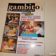 Coleccionismo deportivo: AJEDREZ.CHESS. REVISTA GAMBITO NÚM 52. AÑO 2001. Lote 178371167